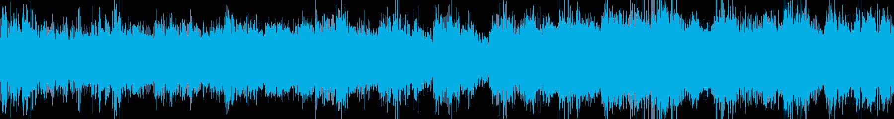 リズミカルなストリングスとパーカッ...の再生済みの波形