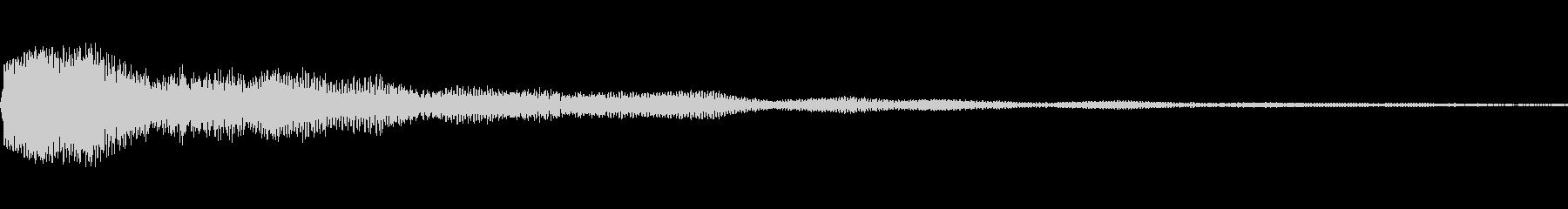 決定音に使えそうな電子音(低い音)の未再生の波形