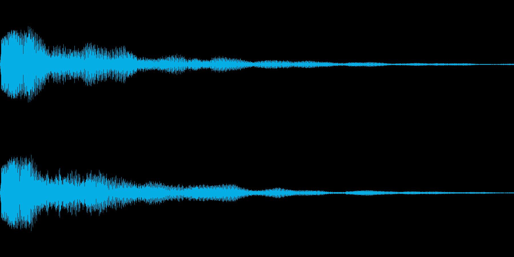 決定音に使えそうな電子音(低い音)の再生済みの波形