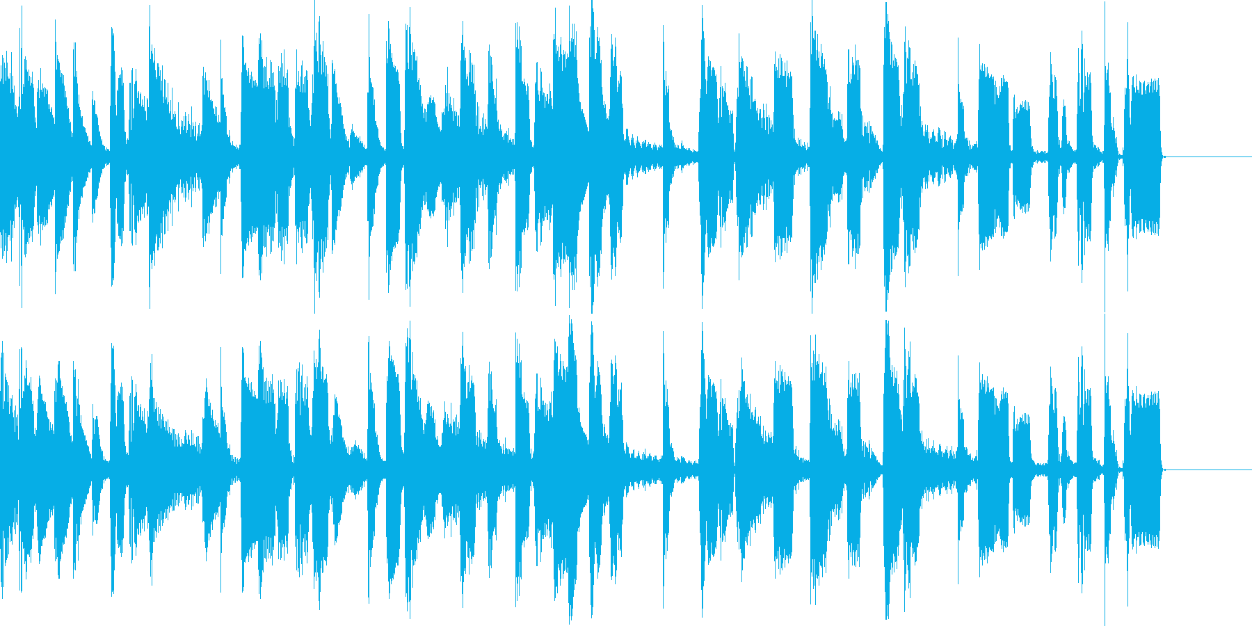 クールなピアノのジングルの再生済みの波形