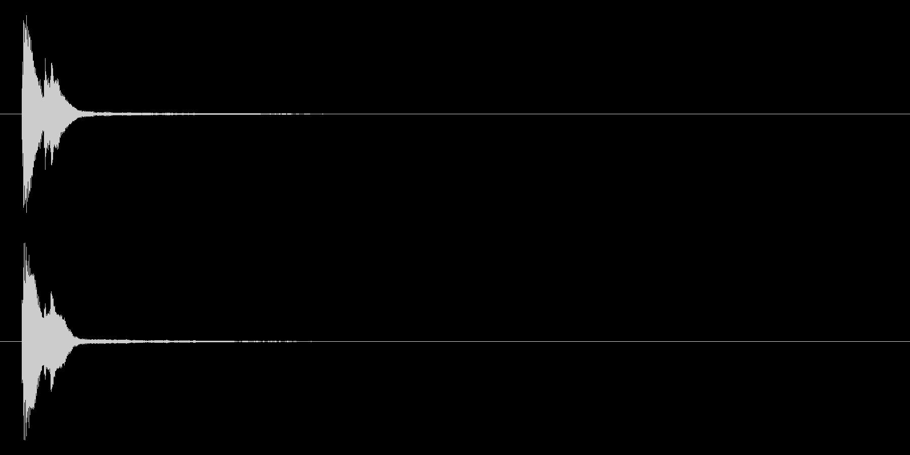 テロップ ピローン ボタンの未再生の波形