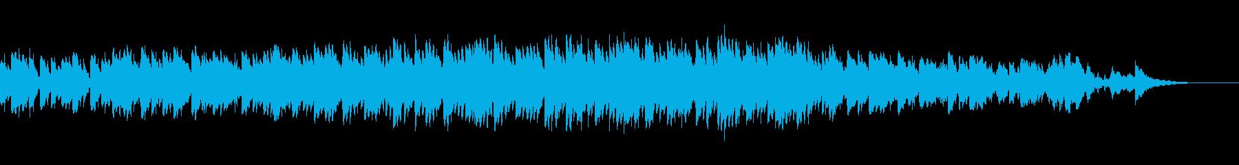 映画エクソシスト風のホラー曲の再生済みの波形