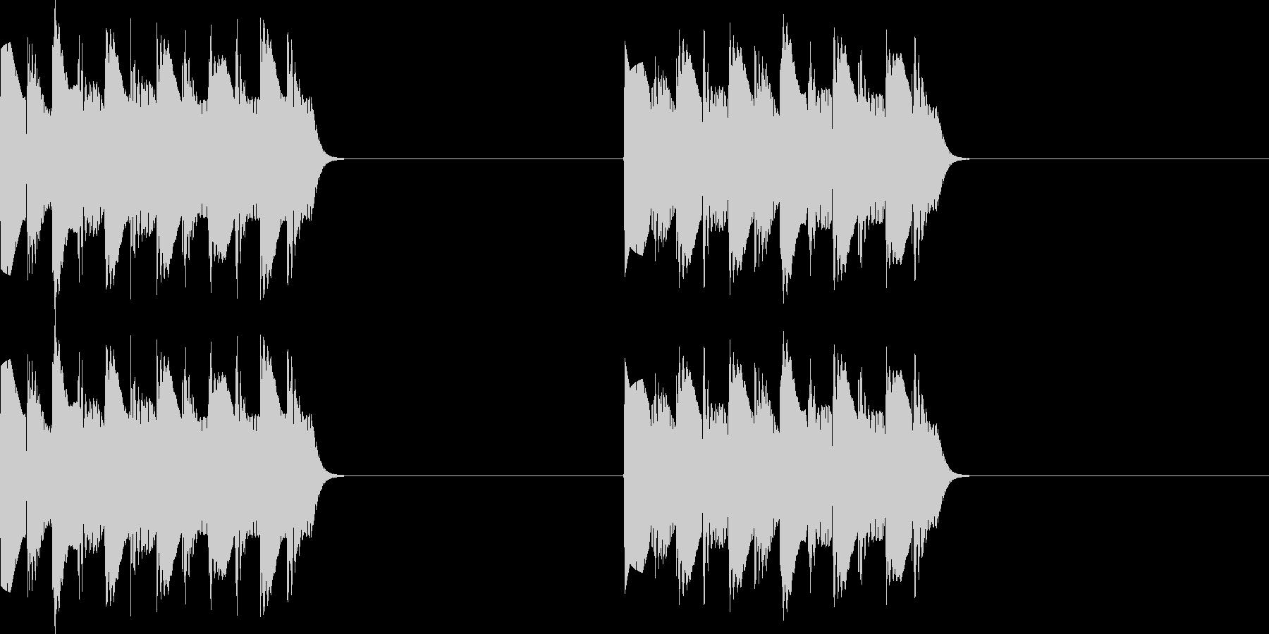 プルプル..。電話の着信音C(低・短)の未再生の波形