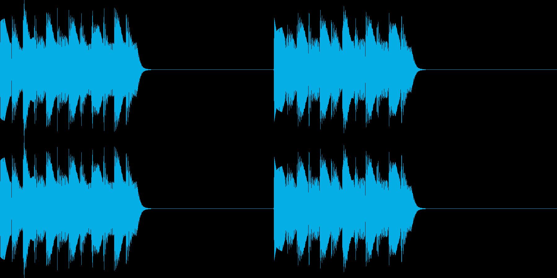 プルプル..。電話の着信音C(低・短)の再生済みの波形