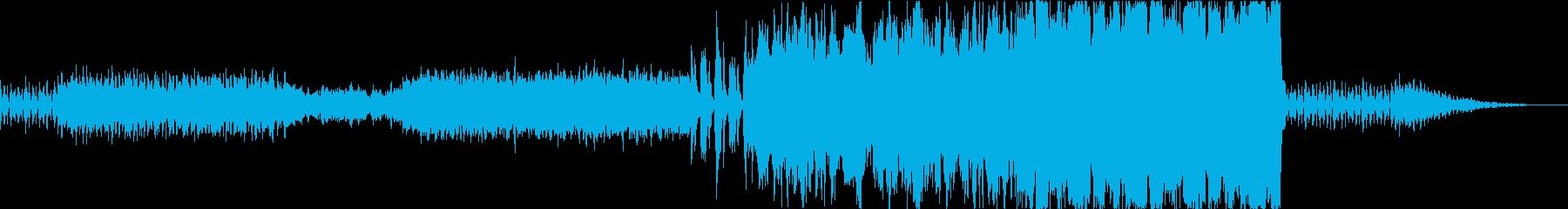 オーケストラ マイナー調の行進曲風の再生済みの波形