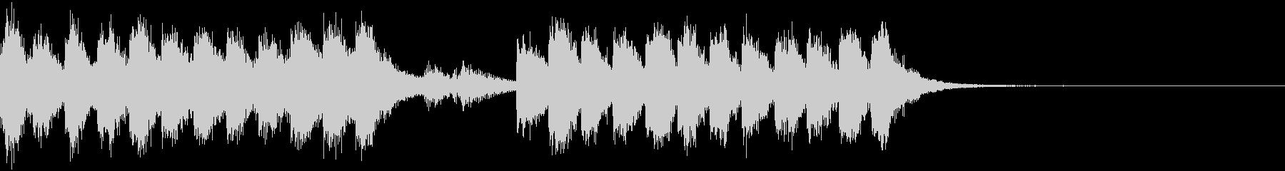 管弦楽によるコミカルなジングルの未再生の波形