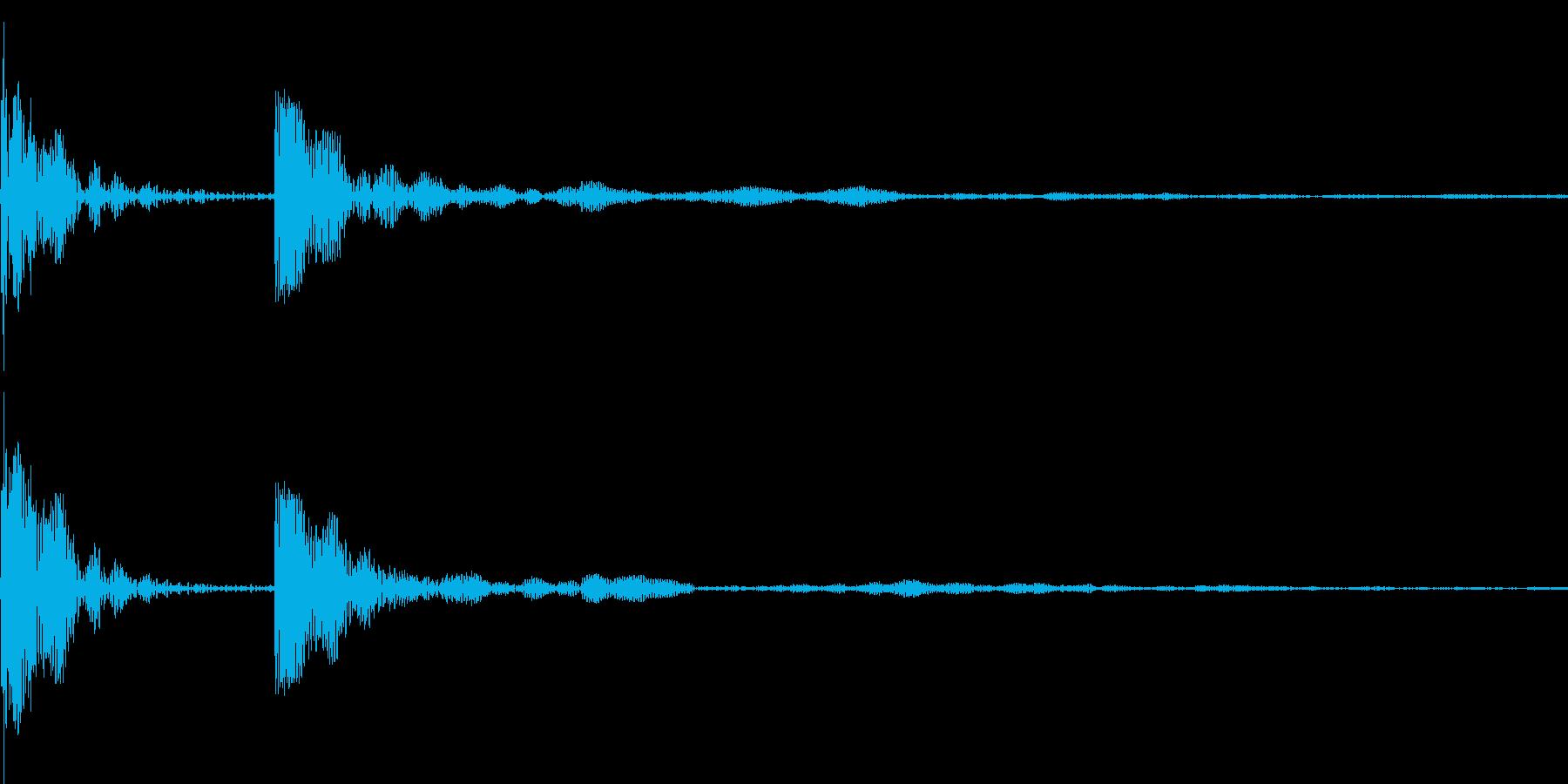 クリック、タップした際に使用の再生済みの波形