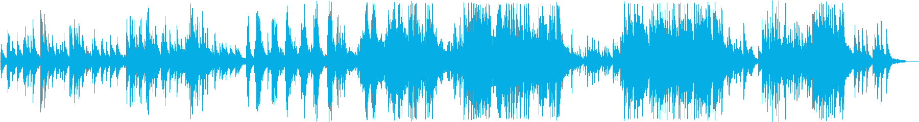 Gentle and calm piano melody's reproduced waveform