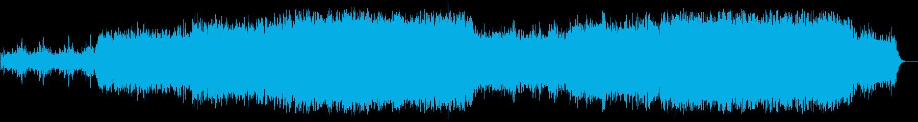 シンセサイザーのキラキラした曲の再生済みの波形