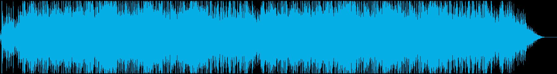 緊迫感のある急かされるようなBGMの再生済みの波形