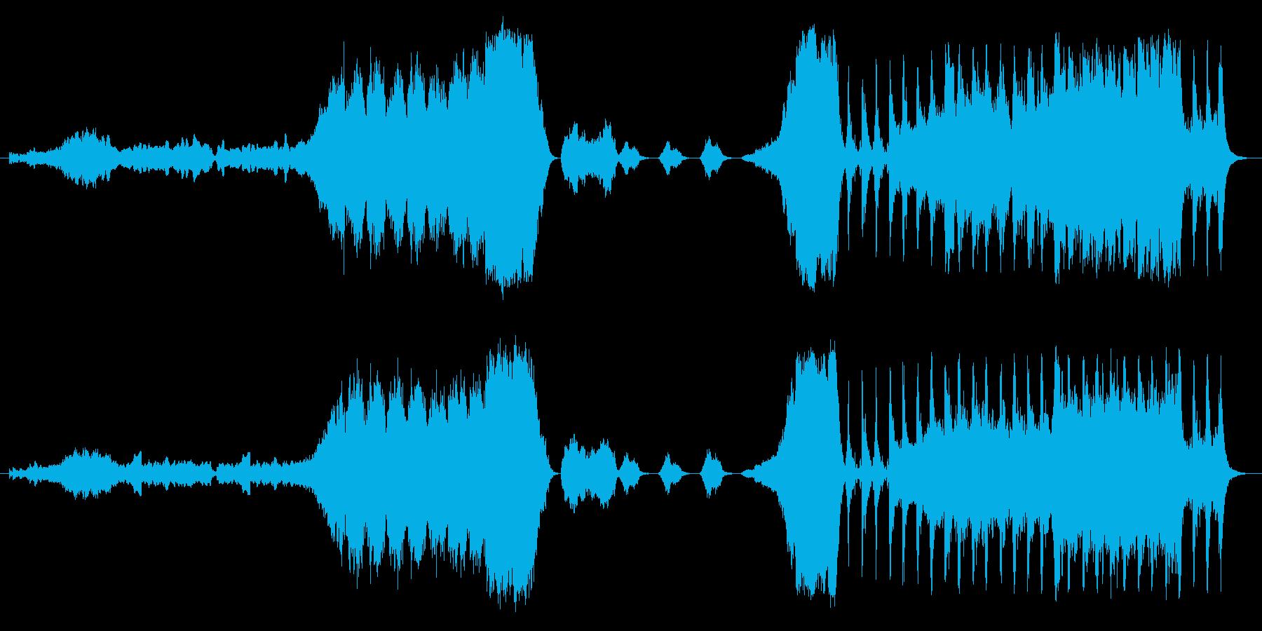 映画やドキュメンタリーのオープニング曲の再生済みの波形