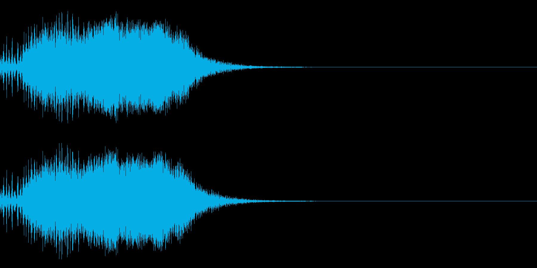スパーク音-07の再生済みの波形