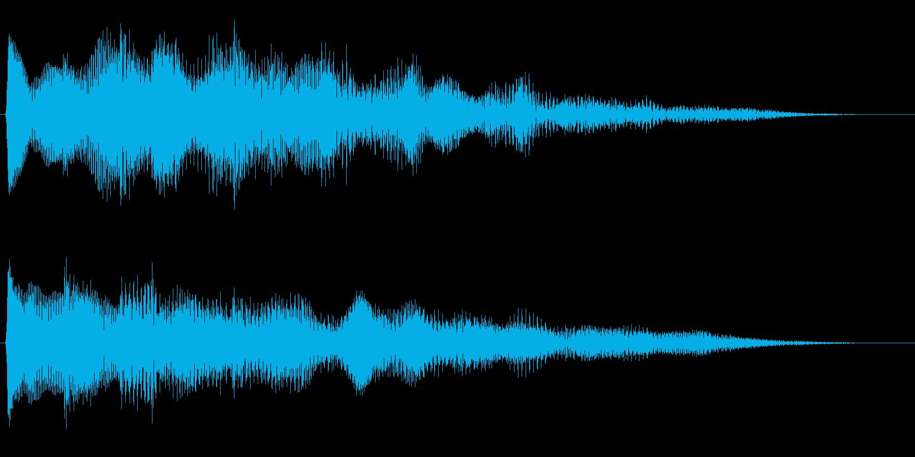 キラキラリーン/美しいリバーブベル上昇音の再生済みの波形