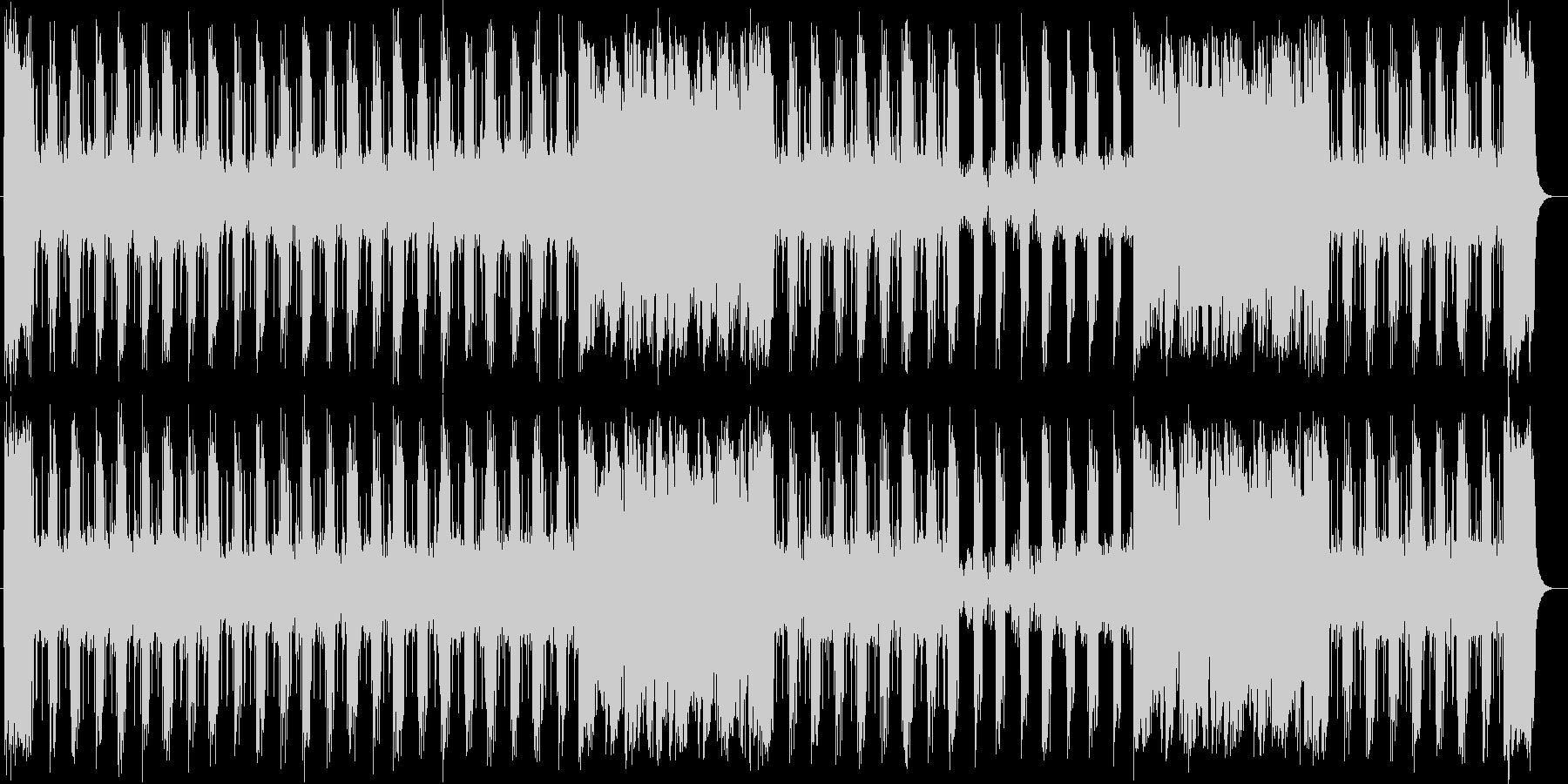 スピード感があるシンセサイザーポップスの未再生の波形