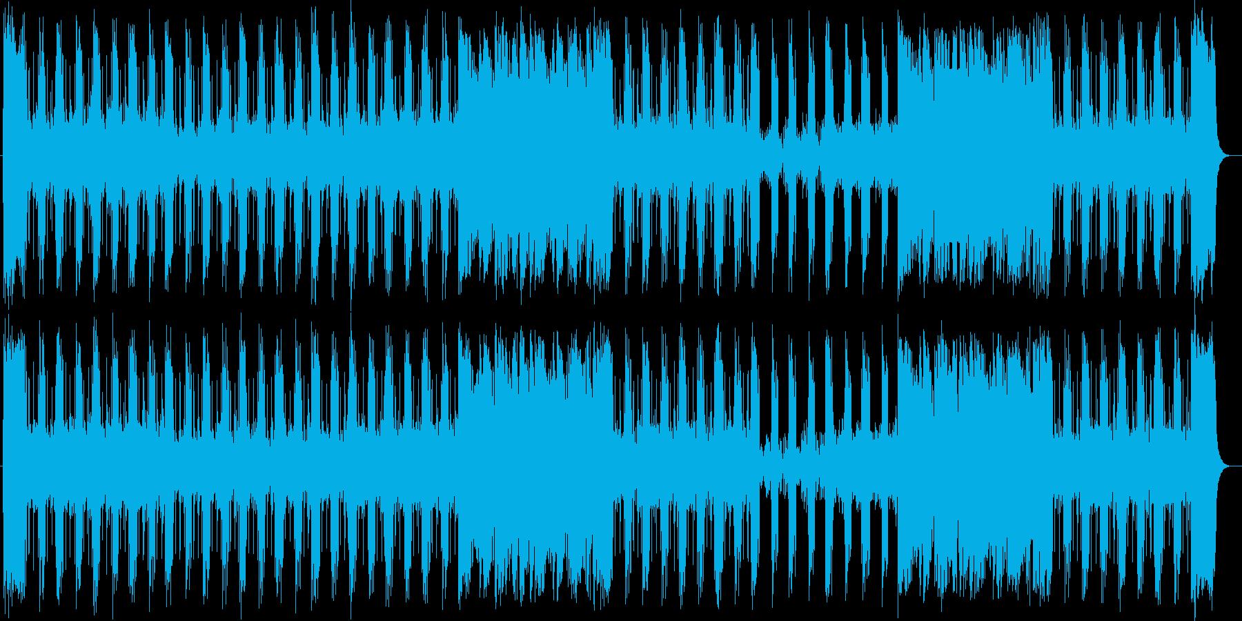 スピード感があるシンセサイザーポップスの再生済みの波形