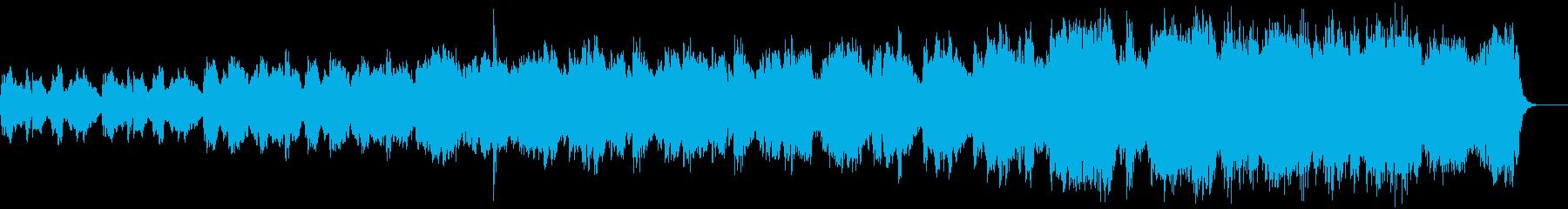 幻想的な印象のコーラスとハープの再生済みの波形