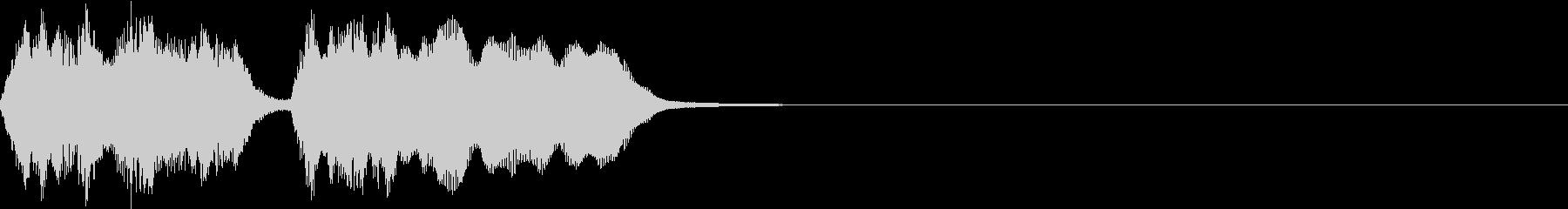 シンプル トランペット ファンファーレCの未再生の波形