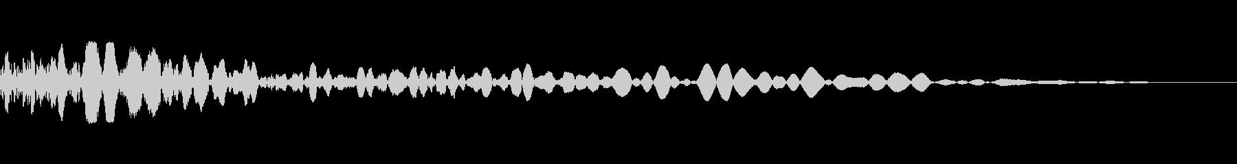 ショックライフルボールファイアの未再生の波形