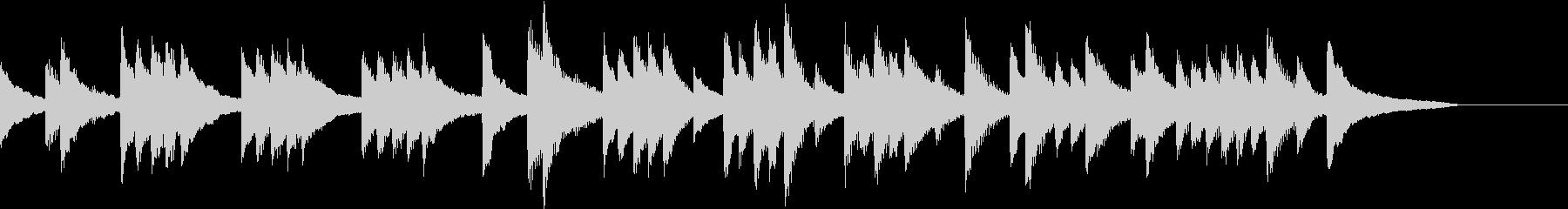 低音の響きを生かした懐しいピアノジングルの未再生の波形
