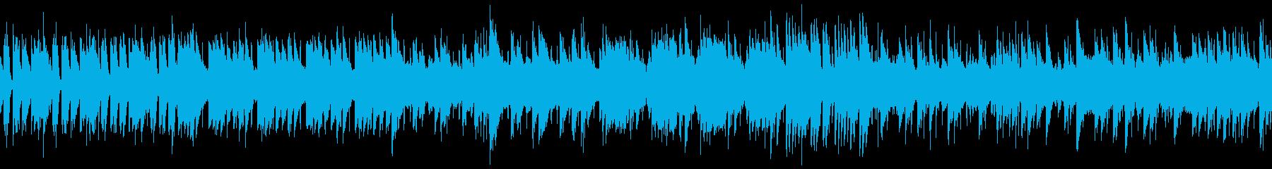 8bit ポップでスペースチックなループの再生済みの波形