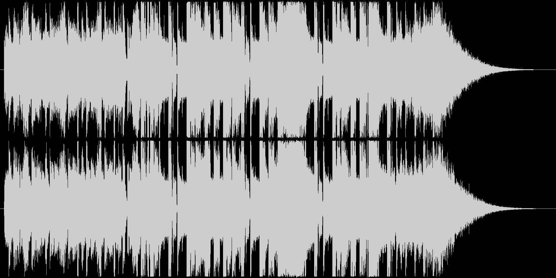 クールでかっこいいハードなEDMの未再生の波形