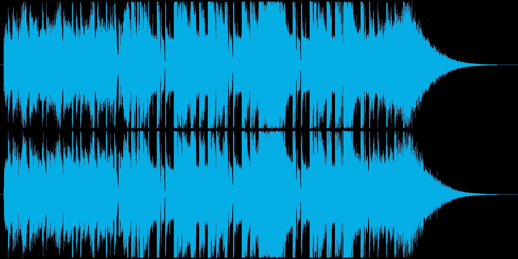 クールでかっこいいハードなEDMの再生済みの波形