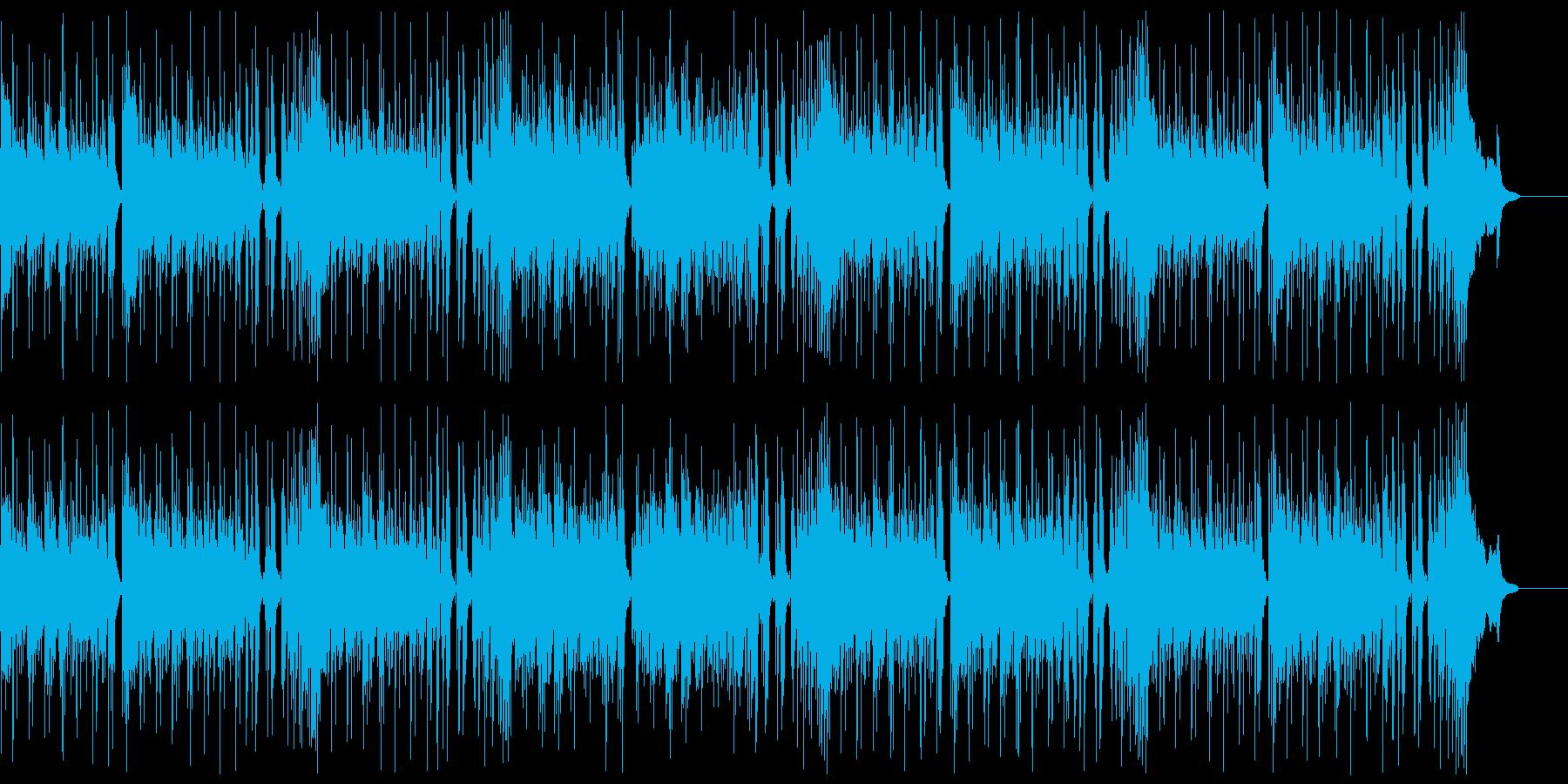 明るく楽しいロックンロール:リズムのみの再生済みの波形