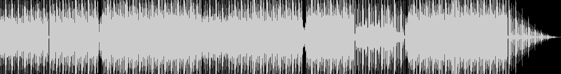 四つ打ちハウスミュージックの未再生の波形