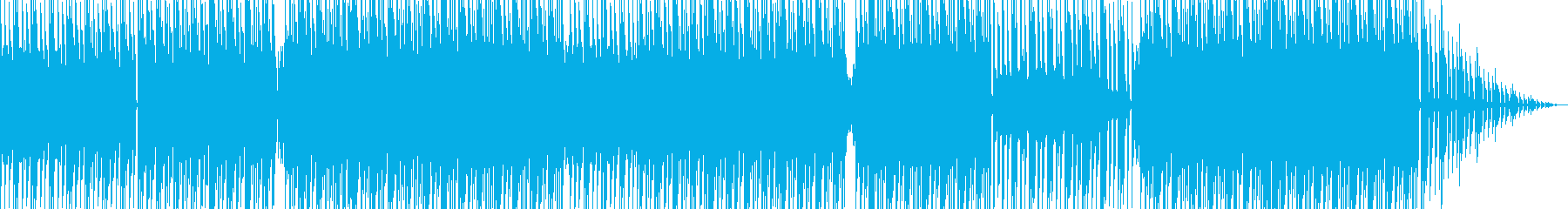 四つ打ちハウスミュージックの再生済みの波形