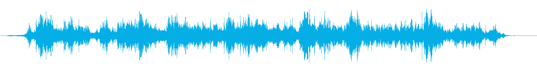 数枚のコインが落ちる音:長めの再生済みの波形