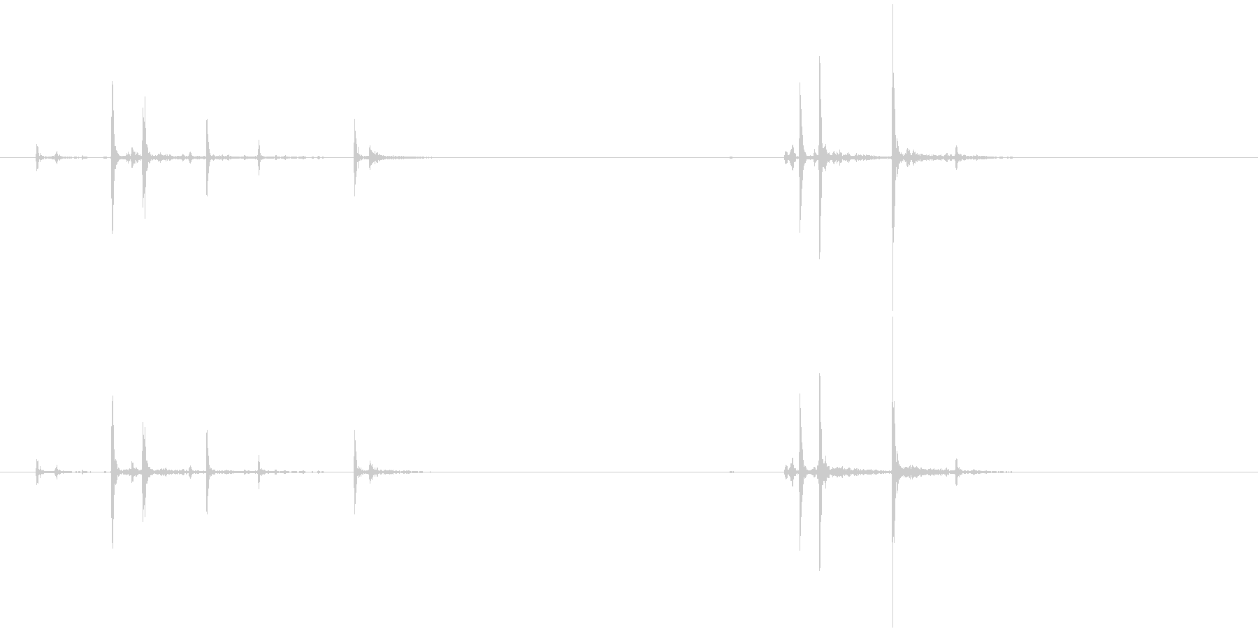 Anime 指の関節を鳴らす音 1の未再生の波形