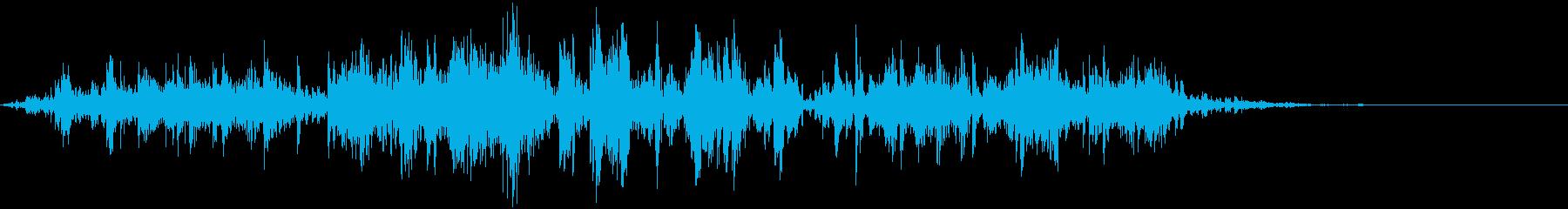 鎖を動かす音8【長い】の再生済みの波形