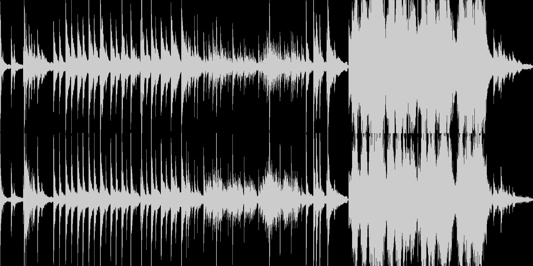静かな夜の雰囲気のヒーリング・ピアノの未再生の波形