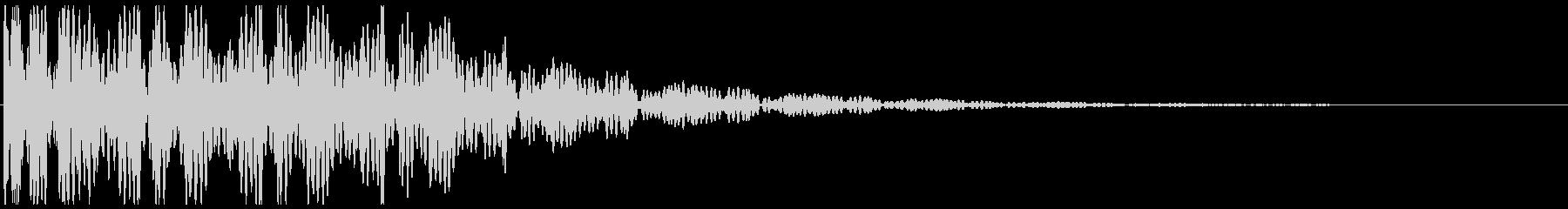 ドゥドゥ…映画の予告など(インパクト音)の未再生の波形