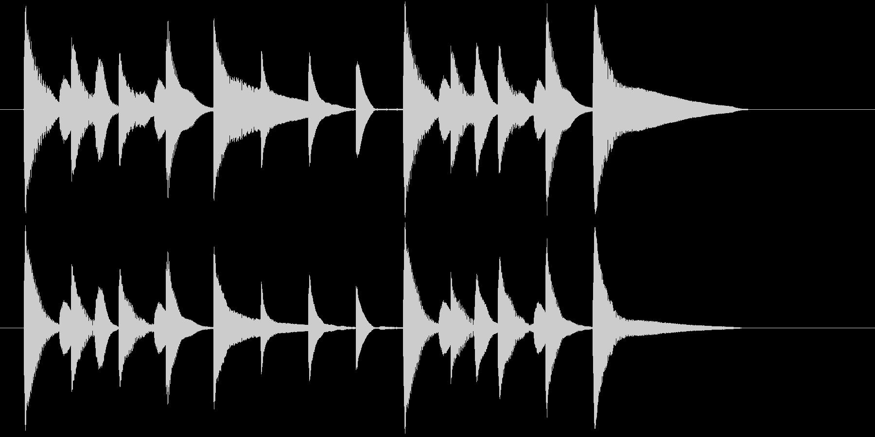 アナウンス前にかかりそうなジングルの未再生の波形