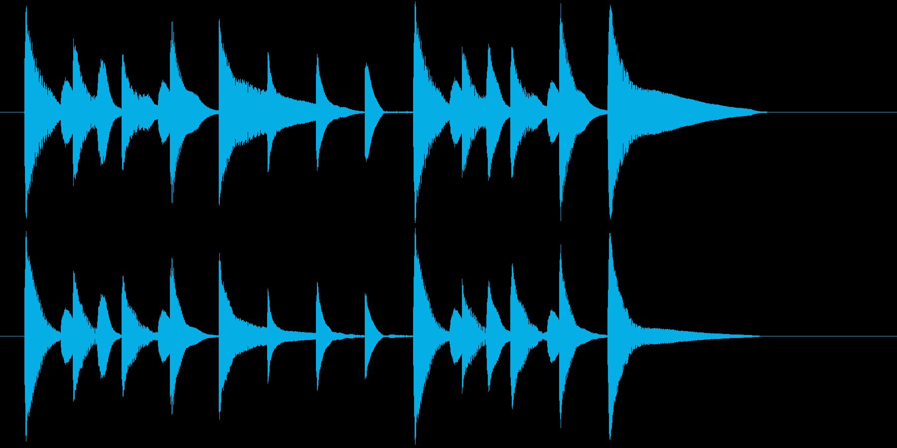 アナウンス前にかかりそうなジングルの再生済みの波形