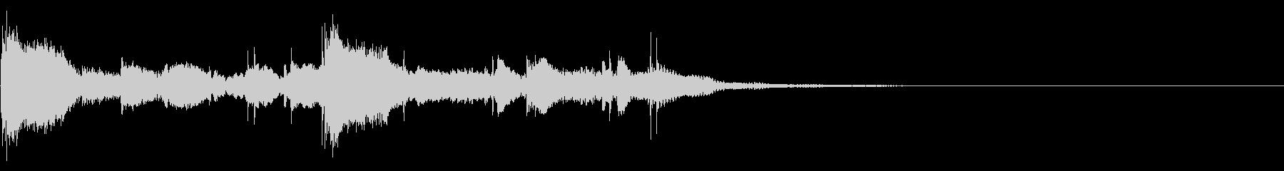 ガムランを使ったジングルSEの未再生の波形
