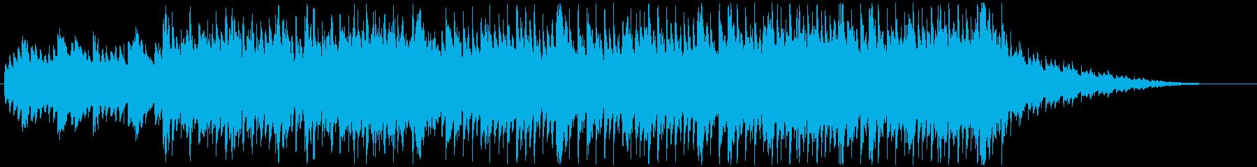 琴や三味線を用いた和風で軽快なノリの曲の再生済みの波形