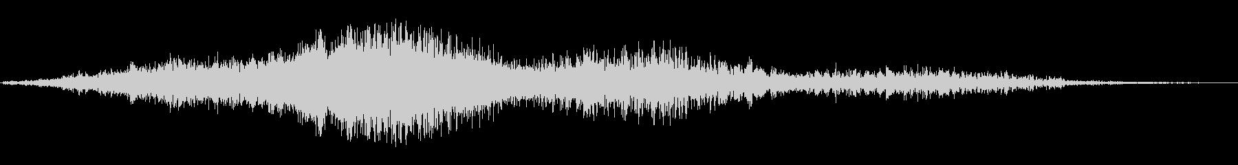 ジャオワォ(反響する耳障りな摩擦音)の未再生の波形