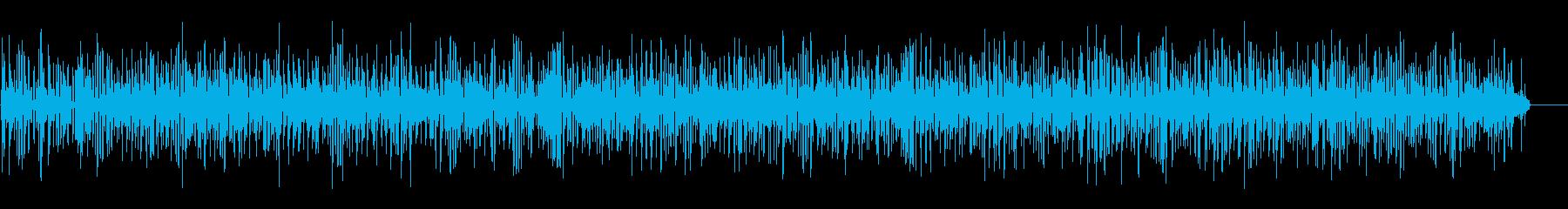 おしゃれカフェ風のアコーディオンジャズの再生済みの波形