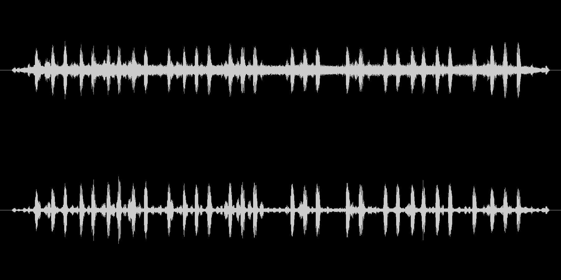 カエルと鈴虫の未再生の波形