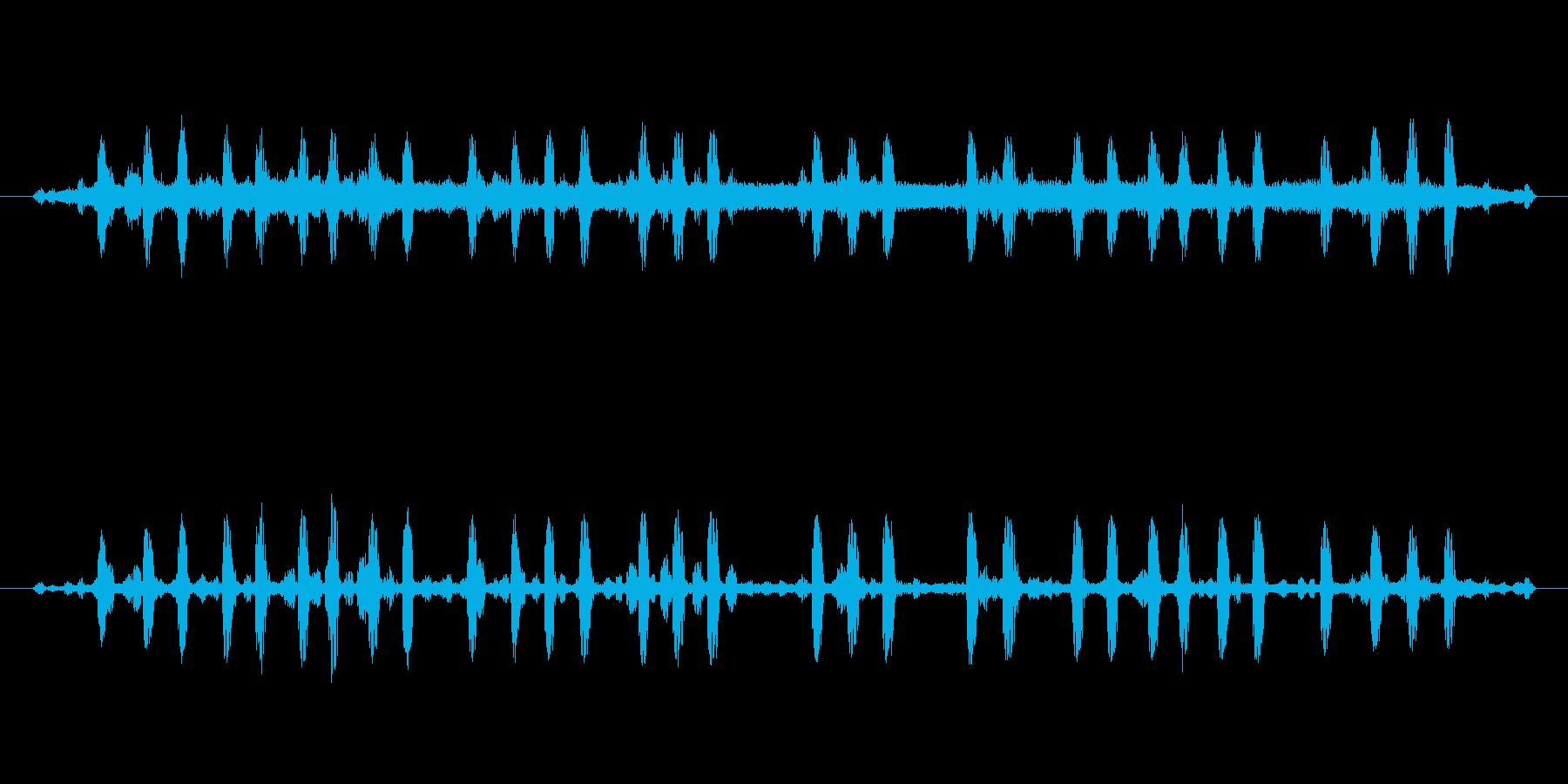 カエルと鈴虫の再生済みの波形