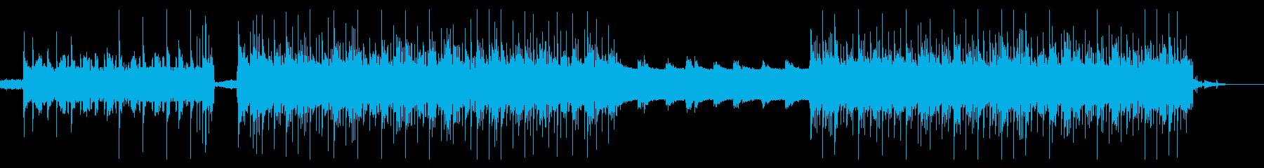 シンセのリズムの中をピアノと琴が疾走するの再生済みの波形