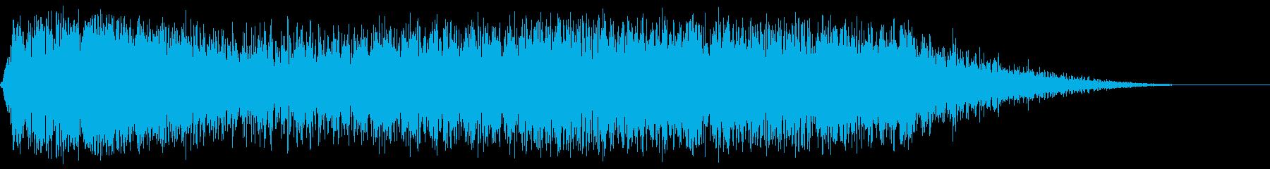 大きな中空スイープの再生済みの波形