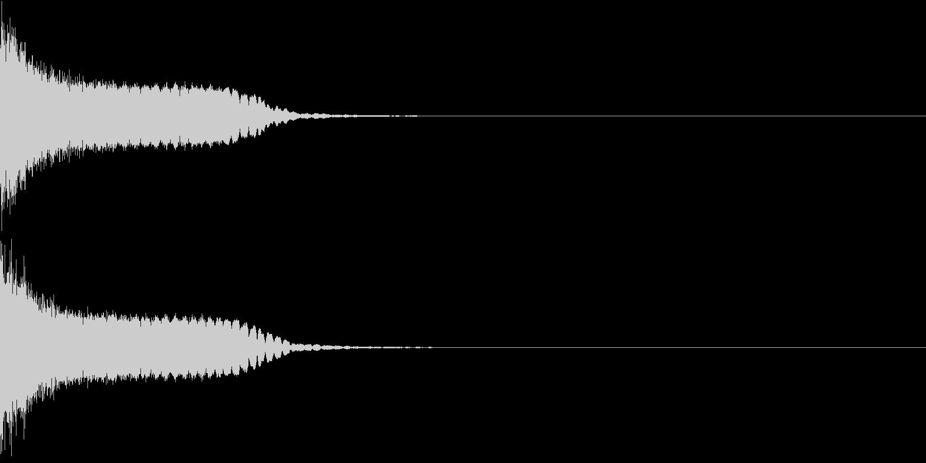 刀 剣 カキーン シャキーン 目立つ07の未再生の波形