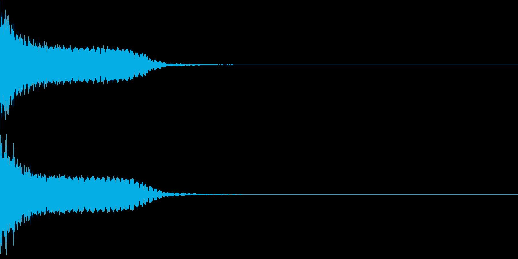 刀 剣 カキーン シャキーン 目立つ07の再生済みの波形