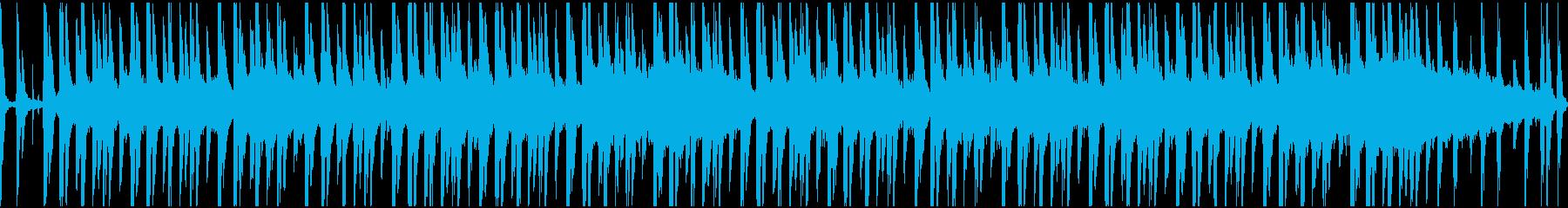 気怠いダブ系サウンドのループの再生済みの波形