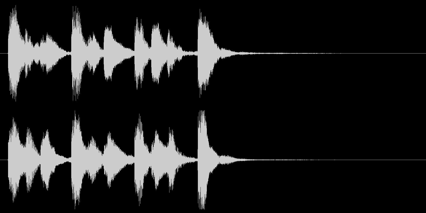 かわいい鉄琴のジングルの未再生の波形