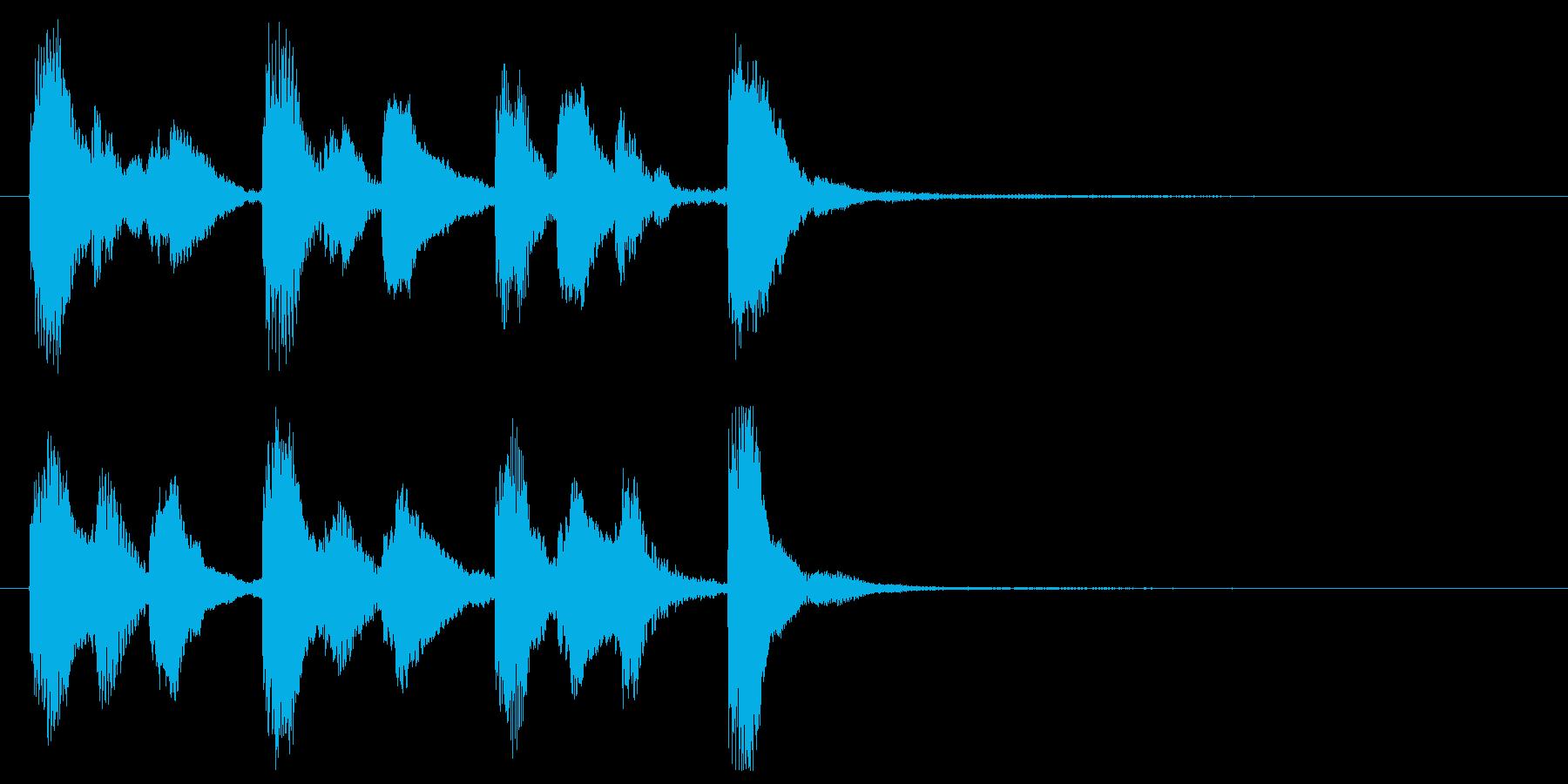 かわいい鉄琴のジングルの再生済みの波形