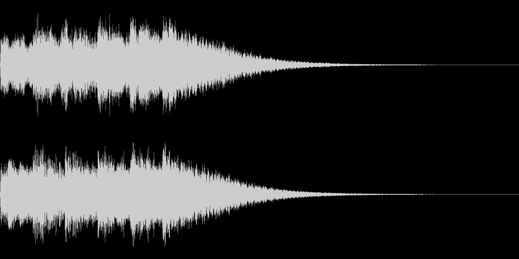 サウンドロゴ、ジングル(ベル系)の未再生の波形
